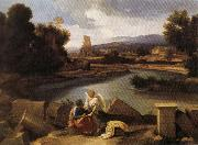 Landscape with Saint Matthew and the Angel POUSSIN, Nicolas
