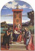 The Virgin and Child between John the Baptist and Mary Magdalen (mk05) CARACCIOLO, Giovanni Battista