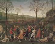 The Combat of Love and Chastity (mk05) Pietro Vannuci called il Perugino