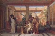 Gustave Boulanger,The Rehearsal in the House of the Tragic Poet (mk23) tadema