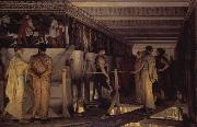 Phidias Showing the Frieze of the Parthenon to his Friends (mk23) Alma-Tadema, Sir Lawrence