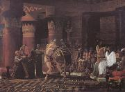 Pastimes in Ancient Egypt 3000 Years Ago (mk23) Alma-Tadema, Sir Lawrence