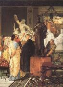A Sculpture Gallery in Rome at the Time of Augustus (mk23) tadema