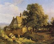 Church at Graupen in Bohemia Adrian Ludwig Richter