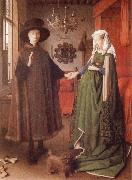 Giovanni Arnolfini and His Wife Giovanna Cenami EYCK, Jan van