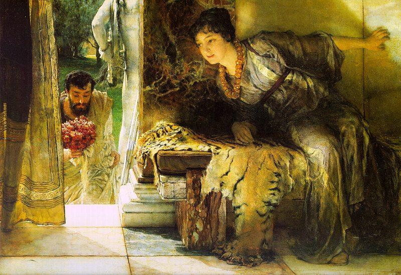 Alma Tadema Welcome Footsteps