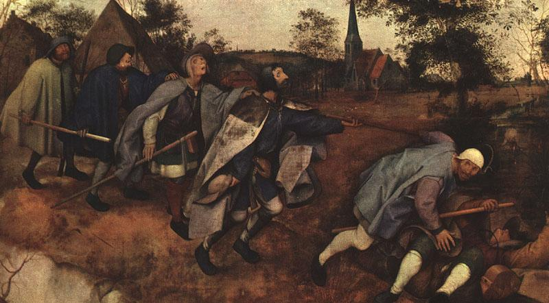 BRUEGEL, Pieter the Elder The Parable of the Blind Leading the Blind f