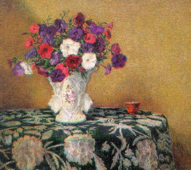 Wilson Irvine Still Life with Petunias