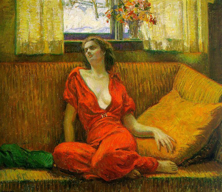 Wilson Irvine Lady in Red