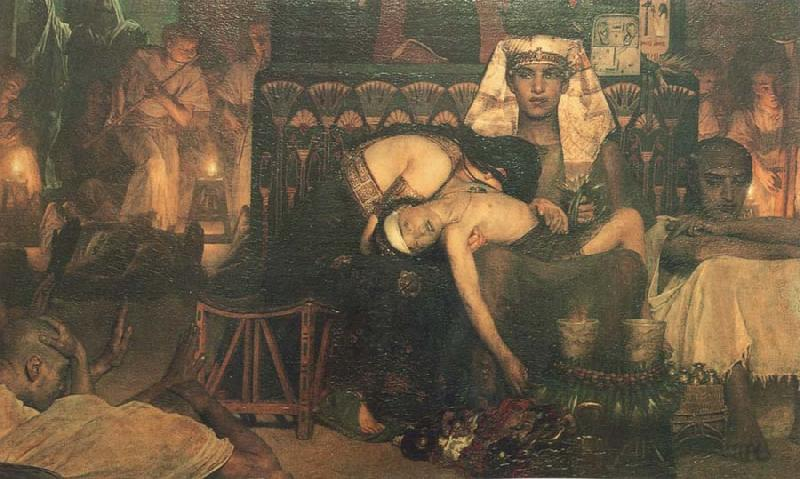 Sir Lawrence Alma-Tadema,OM.RA,RWS The Death of the first Born
