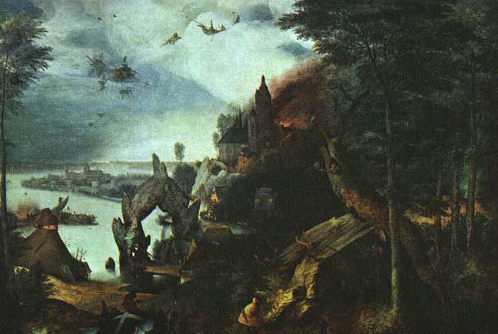 BRUEGEL, Pieter the Elder Landscape with the Temptation of Saint Anthony