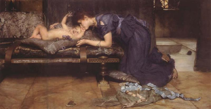 Sir Lawrence Alma-Tadema,OM.RA,RWS An Earthly Paradise