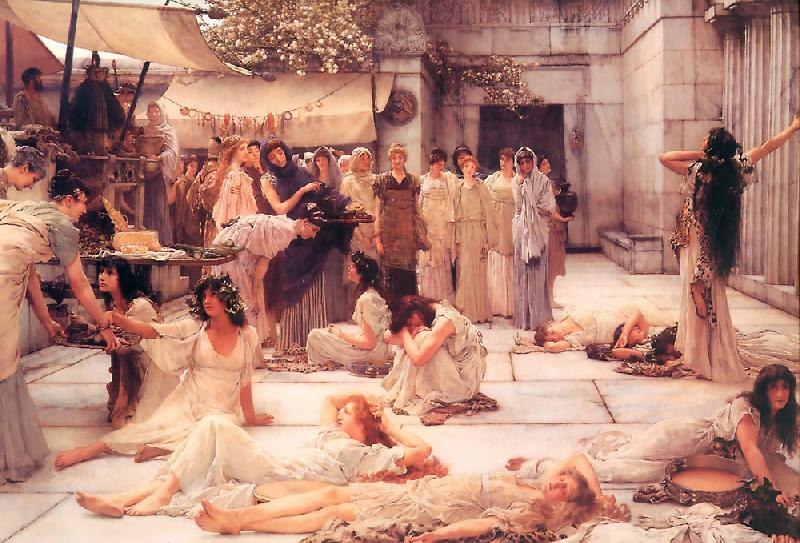 Laura Theresa Alma-Tadema The Women of Amphissa