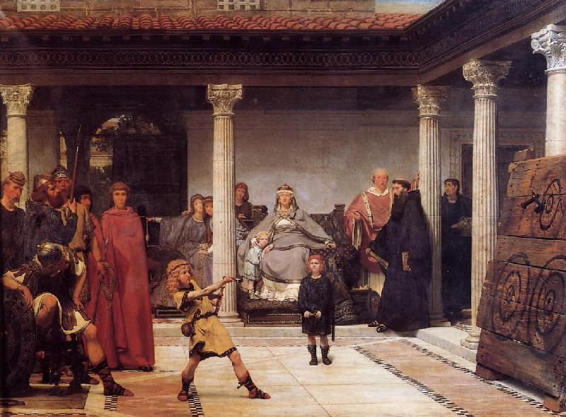 Sir Lawrence Alma-Tadema,OM.RA,RWS The Education of the Children of Clovis
