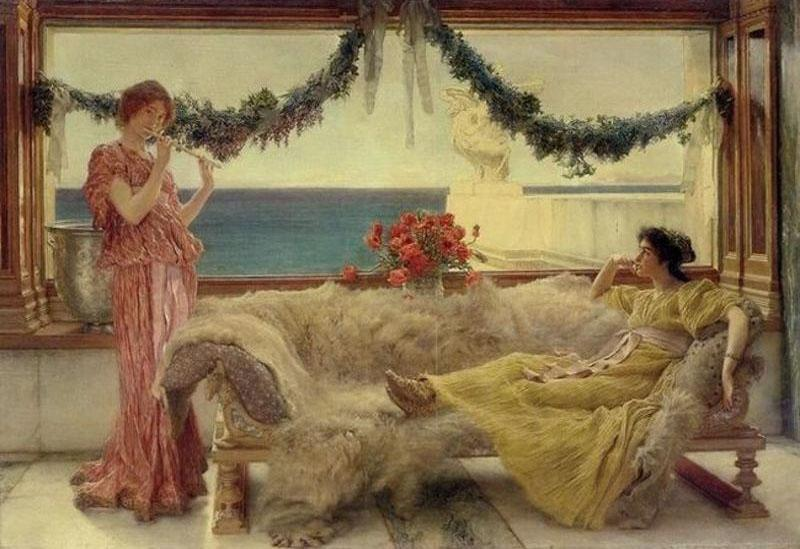 Alma-Tadema, Sir Lawrence Melody on a Mediterranean Terrace