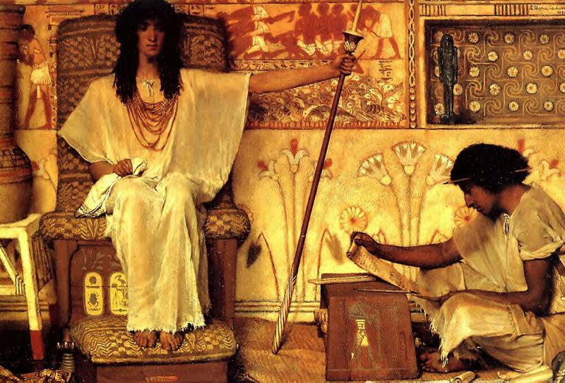 Sir Lawrence Alma-Tadema,OM.RA,RWS Joseph Overseer of the Pharoahs Granaries, by Sir Lawrence Alma-Tadema, oil on canvas