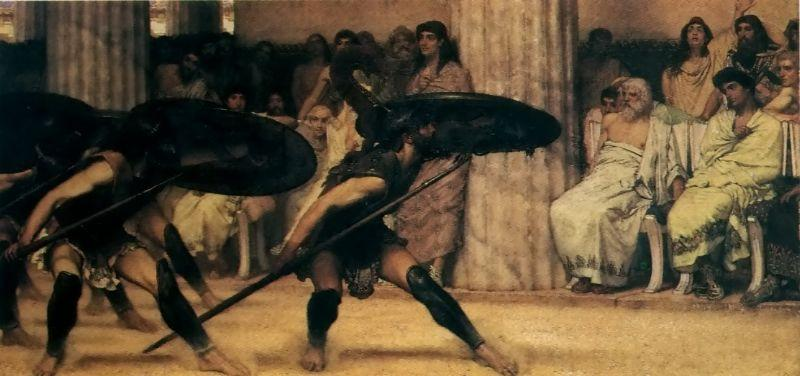 Laura Theresa Alma-Tadema A Pyrrhic Dance Sir Lawrence Alma