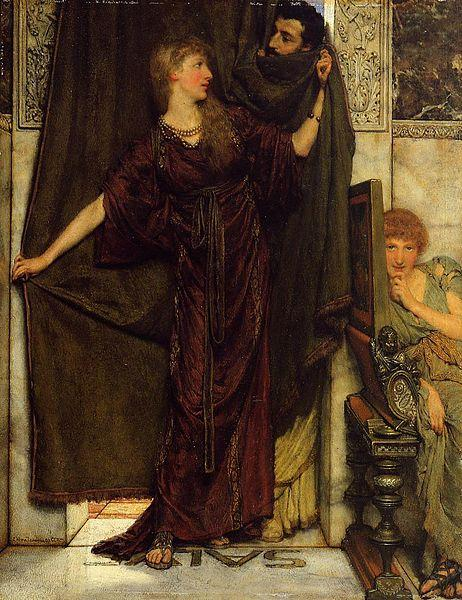 Laura Theresa Alma-Tadema Not at Home Sir Lawrence Alma