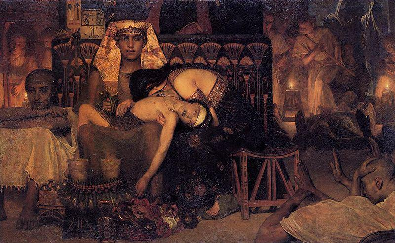 Sir Lawrence Alma-Tadema,OM.RA,RWS Death of the Pharaoh's firstborn son
