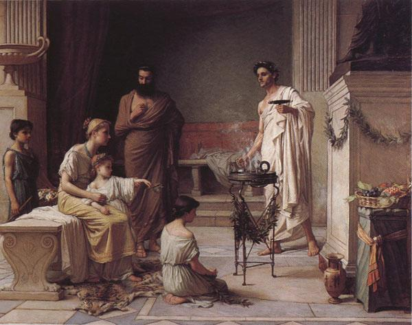 John William Waterhouse A Sick Child Brought into the Temple of Aesculapius