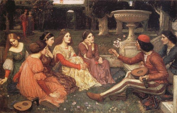 John William Waterhouse A  Tale from the Decameron