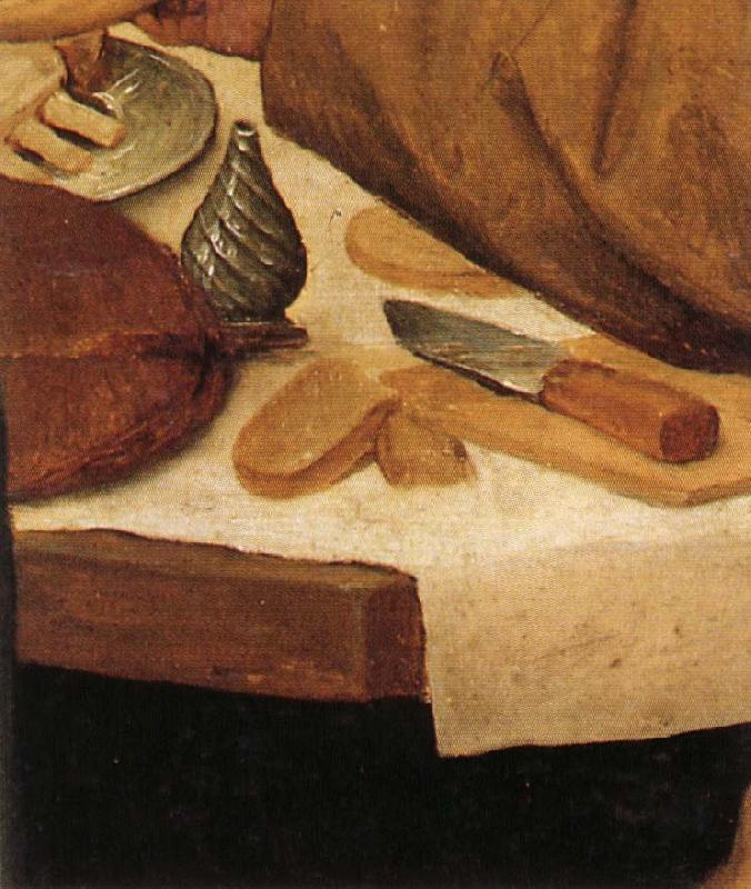 BRUEGEL, Pieter the Elder Details of Peasant Wedding Feast