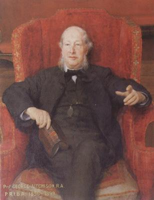 Alma-Tadema, Sir Lawrence Portrait of George Aitchison PRIBA (mk23)