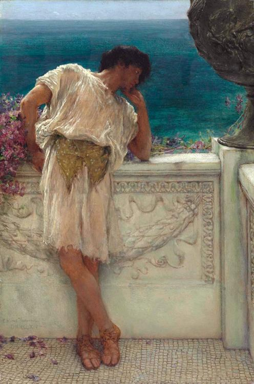 Alma-Tadema, Sir Lawrence The Poet Gallus Dreaming (mk23)