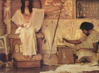 Alma-Tadema, Sir Lawrence Joseph Overseer of Pharoah's Granaries (mk24)