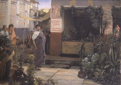 Alma-Tadema, Sir Lawrence The Flower Market (mk23)