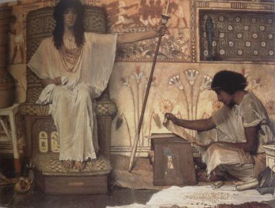 Alma-Tadema, Sir Lawrence Joseph,Overseer of Pharaoh's Granaries (mk23)