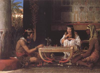 Alma-Tadema, Sir Lawrence Egyptian Chess Players (mk23)