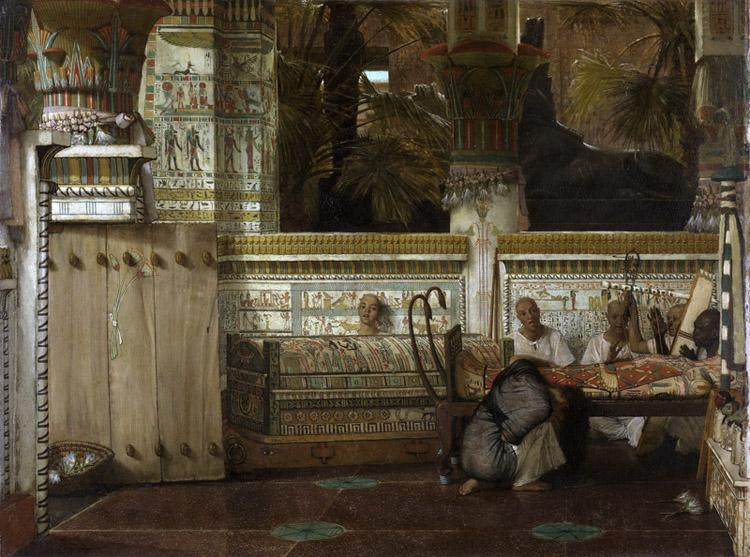 Alma-Tadema, Sir Lawrence An Egyptian widow in the Time of Diocletian (mk23)