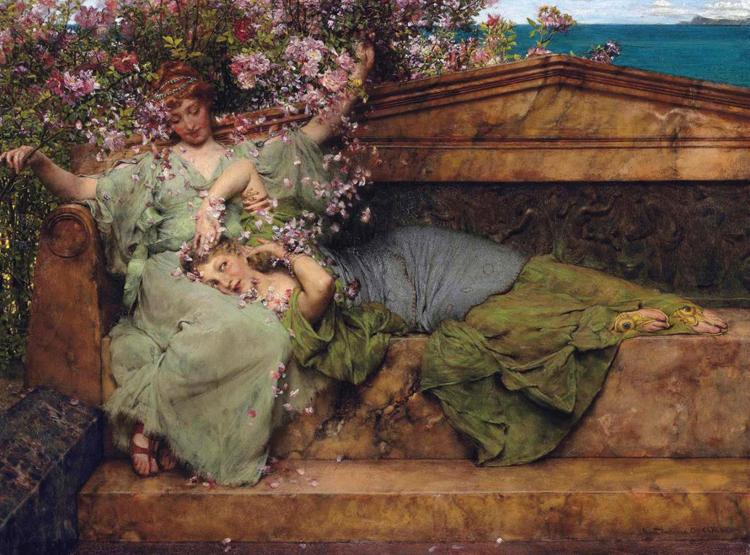 Alma-Tadema, Sir Lawrence In a Rose Garden (mk23)