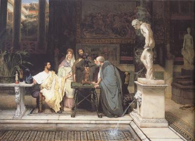 Alma-Tadema, Sir Lawrence A Roman Art Lover (mk23)