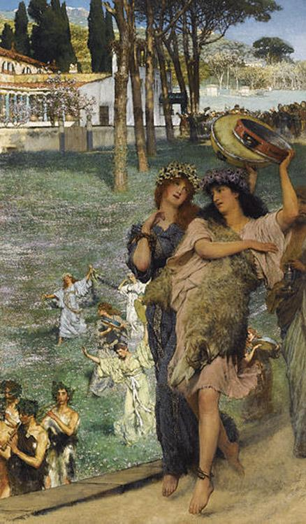 Alma-Tadema, Sir Lawrence On the Road to the Temple of Ceres (mk23)