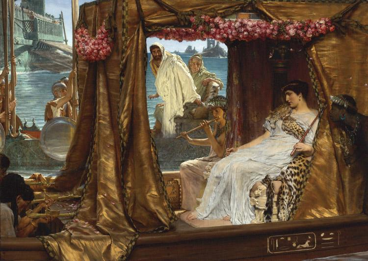 Alma-Tadema, Sir Lawrence The Meeting of Antony and Cleopatra (mk23)