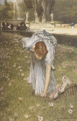 Alma-Tadema, Sir Lawrence Spring in the Gardens of the Villa Borghese (mk23)