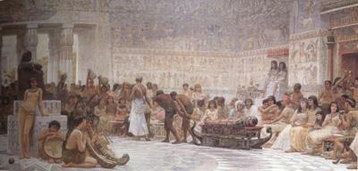 Alma-Tadema, Sir Lawrence Edwin Long,An Egyptian Feast (mk23)