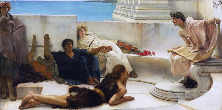Alma-Tadema, Sir Lawrence A Reading from Homer (mk23)