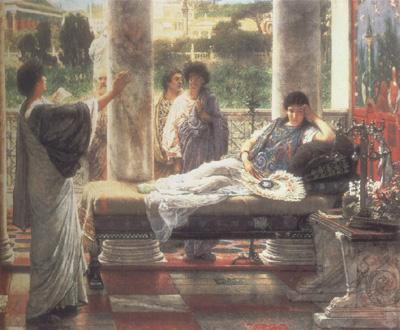 Alma-Tadema, Sir Lawrence Catullus Reading his  Poems at Lesbia's House (mk23)