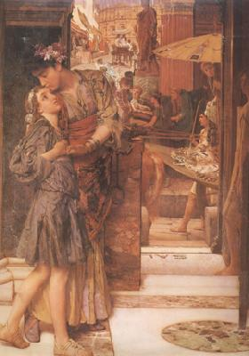 Alma-Tadema, Sir Lawrence The Parting Kiss (mk24)