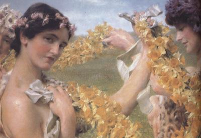Alma-Tadema, Sir Lawrence When Flowers Return (mk23)