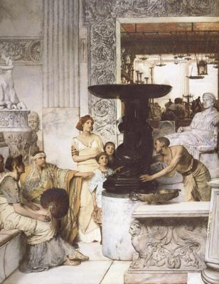Alma-Tadema, Sir Lawrence The Sculpture Gallery (mk23)