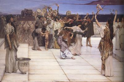 Alma-Tadema, Sir Lawrence A Dedication to Bacchus (mk23)