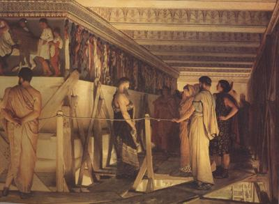 Alma-Tadema, Sir Lawrence Pheidias and the Frieze of the Parthenon Athens (mk24)