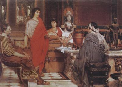 Alma-Tadema, Sir Lawrence Catullus at Lesbia's (mk23)